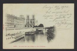 17554 Parigi - Le Petit Bras De La Seine Au Pont St Michel F - The River Seine And Its Banks