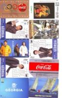 10 Télécartes - Prepaid Différentes  JAPON * COCA COLA (LOT A-32) JAPAN 10 DIFFERENT PHONECARDS * 10 VERSCHIEDENE TK - Alimentazioni