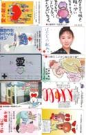 10 Télécartes - Prepaid Différentes JAPON * CROIX ROUGE (LOT A-43) JAPAN 10 DIFF RED CROSS PHONECARDS * 10 VERSCH TK - Reclame