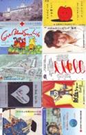 10 Télécartes - Prepaid Différentes JAPON * CROIX ROUGE (LOT A-45) JAPAN 10 DIFF RED CROSS PHONECARDS * 10 VERSCH TK - Publicidad