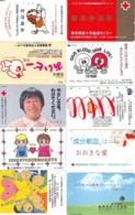 10 Télécartes - Prepaid Différentes JAPON * CROIX ROUGE (LOT A-50) JAPAN 10 DIFF RED CROSS PHONECARDS * 10 VERSCH TK - Advertising