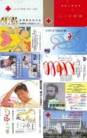 10 Télécartes - Prepaid Différentes JAPON * CROIX ROUGE (LOT A-59) JAPAN 10 DIFF RED CROSS PHONECARDS * 10 VERSCH TK - Werbung