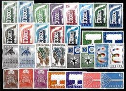 Europa CEPT 1956/1957 - 2 Années Complètes, Qualité LUXE ** - 1957