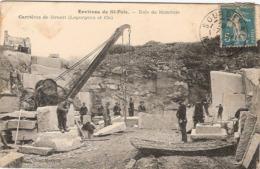 50 ENVIRONS DE SAINT-POIS BOIS DE MONJOIE CARRIERE DE GRANIT LEGORGEUX - Autres Communes