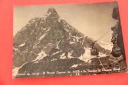 Aosta Breuil Cervinia La Funivia 1955 - Otras Ciudades