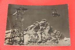Aosta Breuil Cervinia La Funivia Ed. Mariani 1954 + Lieve Segno Di Piega A Sinistra - Otras Ciudades