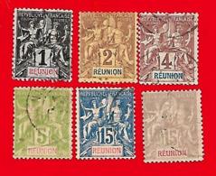 4318  --  REUNION - Lot De Timbres  N°  1821 + 1900 Oblitérés - La Réunion