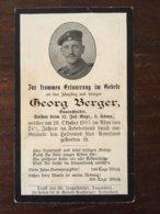 Sterbebild Wk1 Bidprentje Avis Décès Deathcard IR12 Aus Teisendorf Oktober 1915 - 1914-18