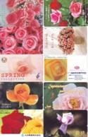 10 Télécartes - Prepaid Différentes JAPON * FLEURES * ROSES (LOT A-68) JAPAN 10 DIFF FLOWERS PHONECARDS * 10 VERSCH TK - Fleurs