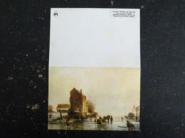 CARTE NOUVEL AN VOEUX 1976 PAYSAGE DE NEIGE - SCENE DE PATINAGE LOUIS SMETS - Nouvel An