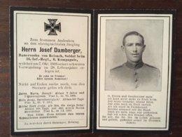 Sterbebild Wk1 Bidprentje Avis Décès Deathcard IR16 Oktober 1916 Aus Reisach - 1914-18