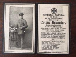 Sterbebild Wk1 Bidprentje Avis Décès Deathcard IR12 April 1918 Aus Feldkirchen - 1914-18