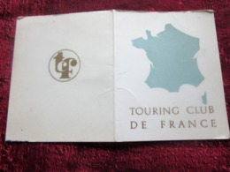 1968/69/70 CARTE ADHÉRENT TOURING CLUB DE FRANCE VIGNETTE CAMPING AFFILIATION GROUPE DE PLEIN AIR ANNECY-LE-VIEUX - Organisations