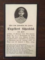 Sterbebild Wk1 Bidprentje Avis Décès Deathcard RIR17 BAMBERG Grab 40 Aus Hart - 1914-18