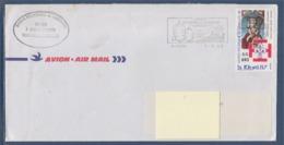 = Flamme Lorient Saint Pierre Et Miquelon Lorient PP Saint Pierre 1.3.88, Bureau Philatélique De L'Archipel N°483 - Lettres & Documents