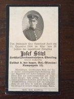 Sterbebild Wk1 Bidprentje Avis Décès Deathcard Reserve Pionier Komp 13 St. Laurent Blangy Block 4 Grab 655 Aus Eberting - 1914-18