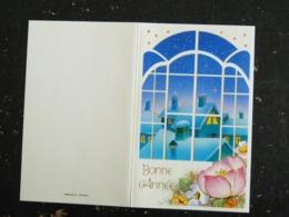 CARTE NOUVEL AN VOEUX 1995 PAYSAGE DE NEIGE - Nouvel An