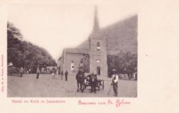Seltene ALTE  AK  ST. HELENA  - Jamestown Kerk - Ca. 1900 Gedruckt - St. Helena