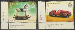 Saint-Marin Europa 2015 N° 2412/ 2413 ** Jouets Anciens - Europa-CEPT