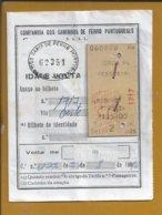 Bilhete De Férias Do Caminhos De Ferro Portuguses,1963. Holiday Ticket Portuguese Railways. Feiertagskarte Eisenbahnen 3 - Tramways