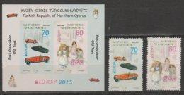 Turquie Adm. Chypre Europa 2015 N° 761/ 762 Et BF N° 29 ** Jouets Anciens - Europa-CEPT