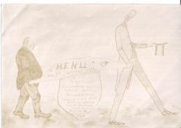 MENU DU 29 JANVIER 1909 - Menus