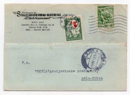 1954 YUGOSLAVIA, SERBIA, NOVI SAD TO BELA CRKVA, CORRESPONDENCE CARD, RED CROSS ADDITIONAL STAMP - 1945-1992 Socialist Federal Republic Of Yugoslavia