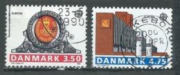 Danemark YT N°978/979 Europa 1990 Batiments Postaux Oblitéré ° - Europa-CEPT