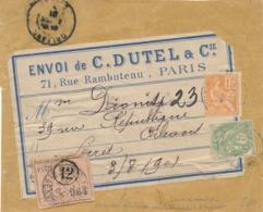 Etiquette ROSE PRÉOBLITÉRÉE Des OPR Recommandées  - Envoi En Nombre - MOUCHON + BLANC - Lettre - Cp - Poststempel (Briefe)