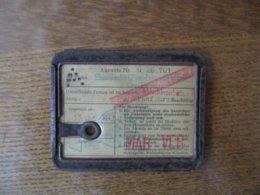 AUSWEIS Nr. G 26 701 15 JULL 1943 DER FIRMA EISENWERKE OBERDONAU G. M.b.H LINZ/DONAU - Documents