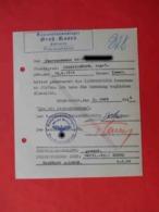 KG Lager GROSS ROSSEN 1944 Genuine Document To BORDEL For Camp Guards - Historische Documenten