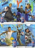 "6 Cartes Postales ""Cart'Com"" - Pepsi (football) Henry, Messi, Ronaldinho, Beckham, Fabregas, Lampard - Soccer"