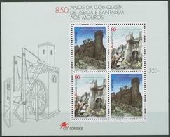 Portugal 1997 Mauren Eroberungen Stadtmauern Block 126 Postfrisch (C93212) - Blocks & Kleinbögen