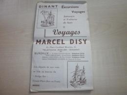 Ancien Dépliant Voyages MARCEL DISY DINANT - Sports & Tourisme