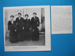 (1916) Vertus (Marne) Quatre Soeurs, Marie, Hélène, Madeleine Et Camille VATEL Décorées De La Croix De Guerre - Vecchi Documenti
