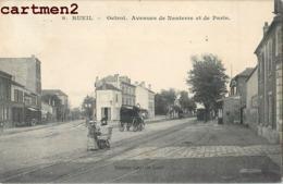 RUEIL OCTROI AVENUES DE NANTERRE ET DE PARIS CHEMIN DE FER TRAMWAY TRAIN 92 - Rueil Malmaison