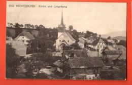 MYC-17 Rechthalten Dirlaret Kirche Und Umgebung. Cachet Militaire, Circulé En 1922. Savigny 1592 - FR Fribourg