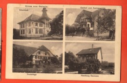 MYC-20 Gruss Aus Galmiz Bonjour De Charmey  Multivues Ecole, Gasthof, Poste, Handlung Baumann. - FR Fribourg