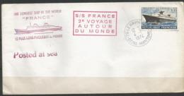 1962 - Yvert  N° 1325 - PAQUEBOT FRANCE  -  2 Lettres Commémoratives - 1961-....