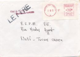 """Griffe """" PROSPECTION DES GRANDES ENDÉMIES """" Lettre POSTE AUX ARMÉES 1985 - Etiquette SP 656 EMA - Poststempel (Briefe)"""