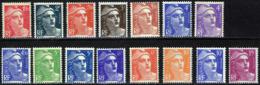 FRANCE Lot Entre 712 Et 724 ** MNH Marianne De Gandon 15 Valeurs (CV 13,80 €) - Unused Stamps
