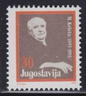 Yugoslavia 1988 Miroslav Krleza Surcharge, MNH (**) Michel 158 - Timbres-taxe