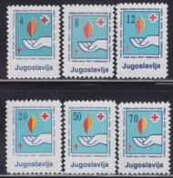 Yugoslavia 1988 Red Cross - Fight Against Tuberculosis Week Surcharge, MNH (**) Michel 159-164 - Postage Due