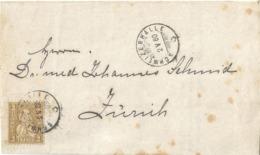 """Drucksache  """"Solbad, Schweizerhalle"""" - Zürich        1880 - Brieven En Documenten"""