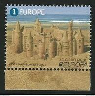 "BÉLGICA/ BELGIUM/ BELGIQUE/ BELGIEN -EUROPA-CEPT 2017-""CASTILLOS - CASTLES - SCHLÖSSER""- SERIE De 1 V. - N - 2017"
