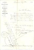 COURRIER-ALGERIE-DIV ORAN-Lt COLONEL COMMANDANT  LA SUBDIVISION PAR INTERIM   MOSTAGANEM- 1854 - - Documenten