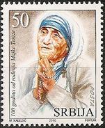 Serbia 2010  100 Years Anniversary Mother Teresa, Religion, Christianity, MNH - Mutter Teresa