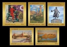 Russia 2019 Mih. 2762/66 Modern Art. Paintings. Sculpture. Horse. Pushkin. Moscow Kremlin. Tower. Rock MNH ** - Ungebraucht