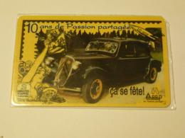 CARTE TELEPHONIQUE : CITROEN TRACTION AVANT - Editée Par ACCP 10ème FOIRE Aux PASSIONS De LANGON (33) - France