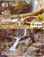 CYPRUS - Millomeri Waterfall/Mesa Potamos Waterfall(0219CY), Tirage 55500, 05/19, Used - Chipre